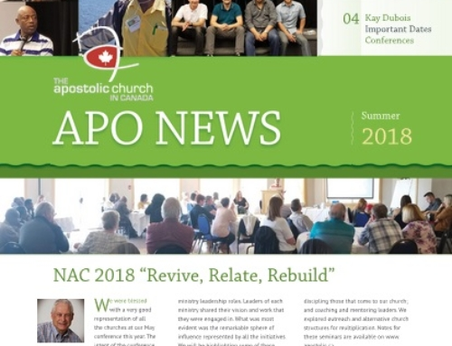 The Apostolic Church in Canada Summer 2018 Newsletter