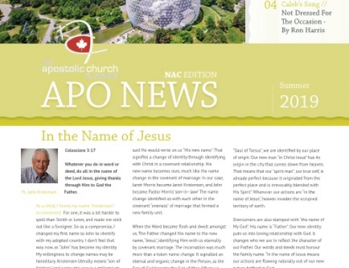 The Apostolic Church in Canada Summer 2019 Newsletter
