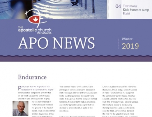 The Apostolic Church in Canada Winter 2019 Newsletter